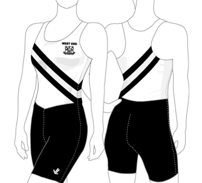 West End Women's Race Rowsuit Cartoon